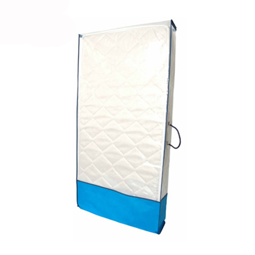 Blue Non Woven and Clear PE Mattress Bag