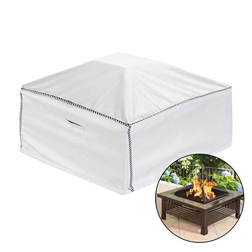 White Polyester Grill Cover