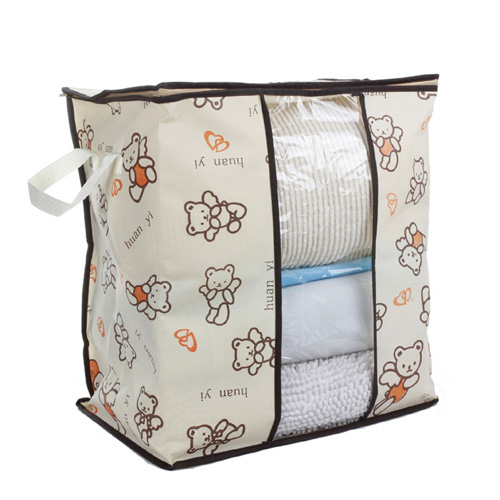 Brown Non-woven Binding Underbed Storage Bag