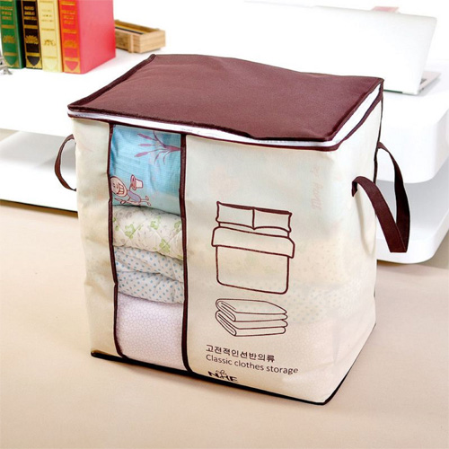 Red Brown Non-woven Binding Underbed Storage Bag