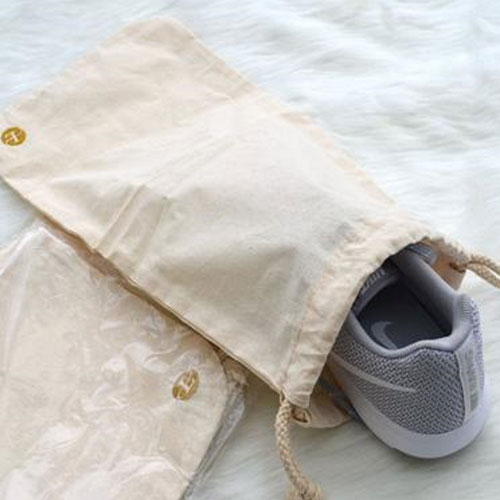 Beige Non-woven Shoes Storage Bag