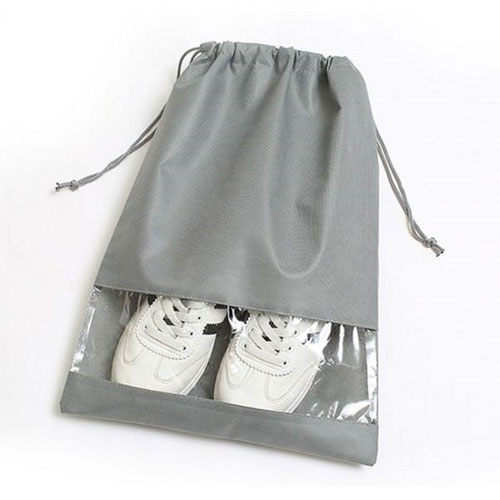 Grey Non-woven 1-piece-structure Shoes Storage Bag
