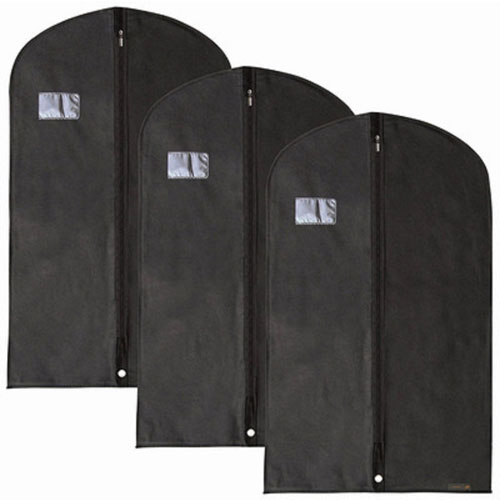 Black Non-woven Binding Garment Bag