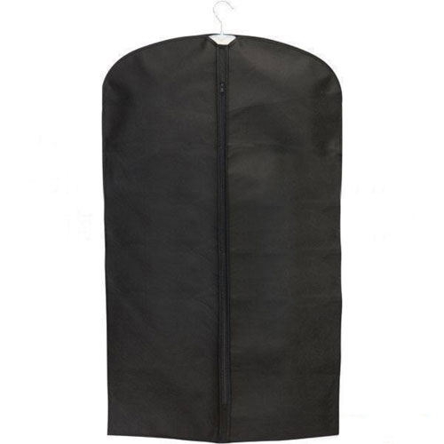 Black Nylon Binding Zipper Garment Bag 2