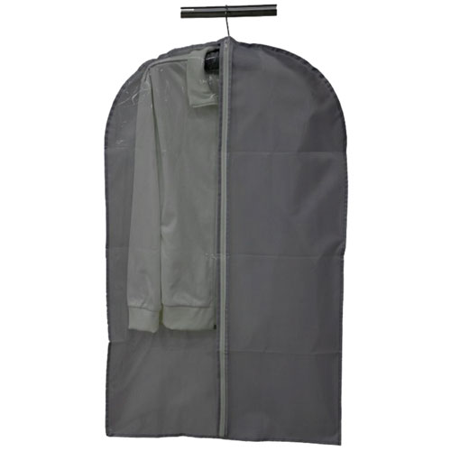 Black Nylon Binding Zipper Garment Bag