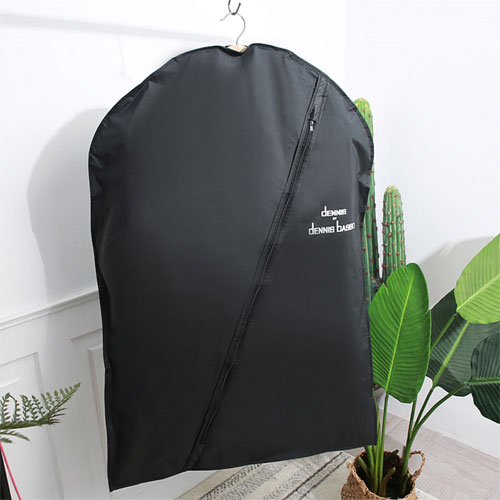 Black Nylon White Logo Right Front Side Garment Bag