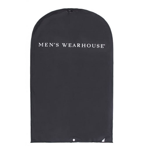 Black Nylon White Logo Garment Bag