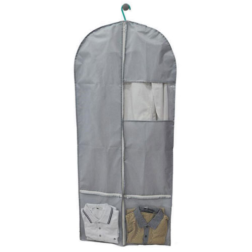 Grey Nylon Binding Garment Bag