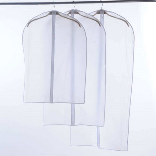 White PEVA Garment Bag