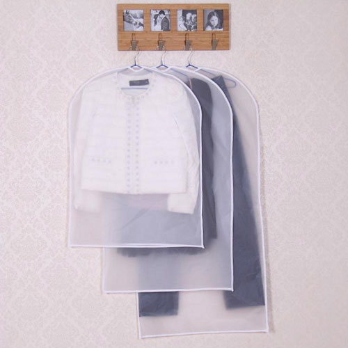 White PEVA Frosted Garment Bag