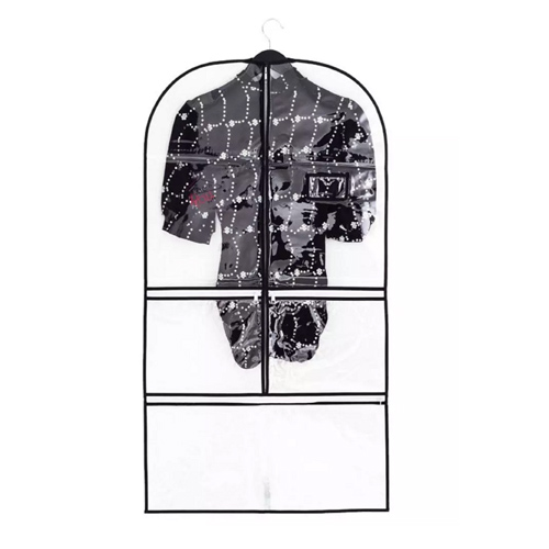 Clear PVC Black PEVA Binding Women's Garment Bag