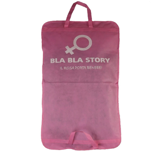 Pink Non-woven Women's Garment Bag