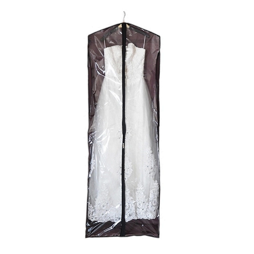 Back Panel in Brown Non-woven Dress Garment Bag